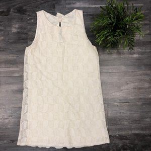 Anthropologie -Everly Cream Lace Tunic Small